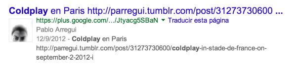 Resultado búsqueda Coldplay